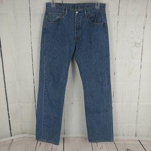 Levi's 501 Buttonfly Medium Denim Jeans